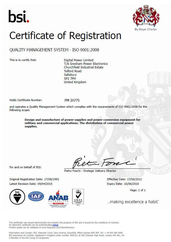 View our ISO Certification